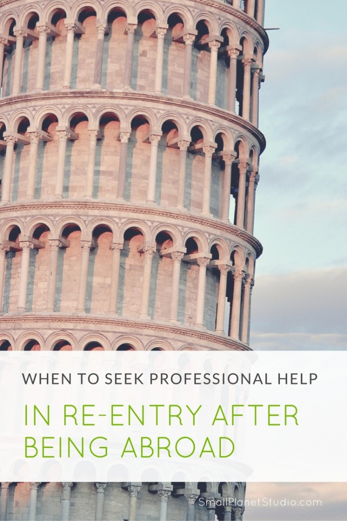 When to seek professional help in re-entry after being abroad (reverse culture shock)