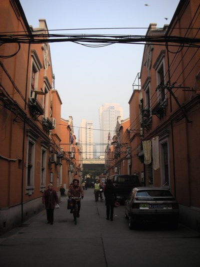 Walking to work in Shanghai