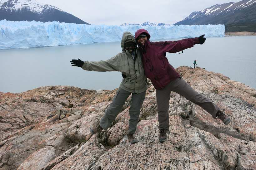 Rosemary and Claire at Perito Moreno Glacier, Argentina | All Pictures Credit of Authentic Food Quest