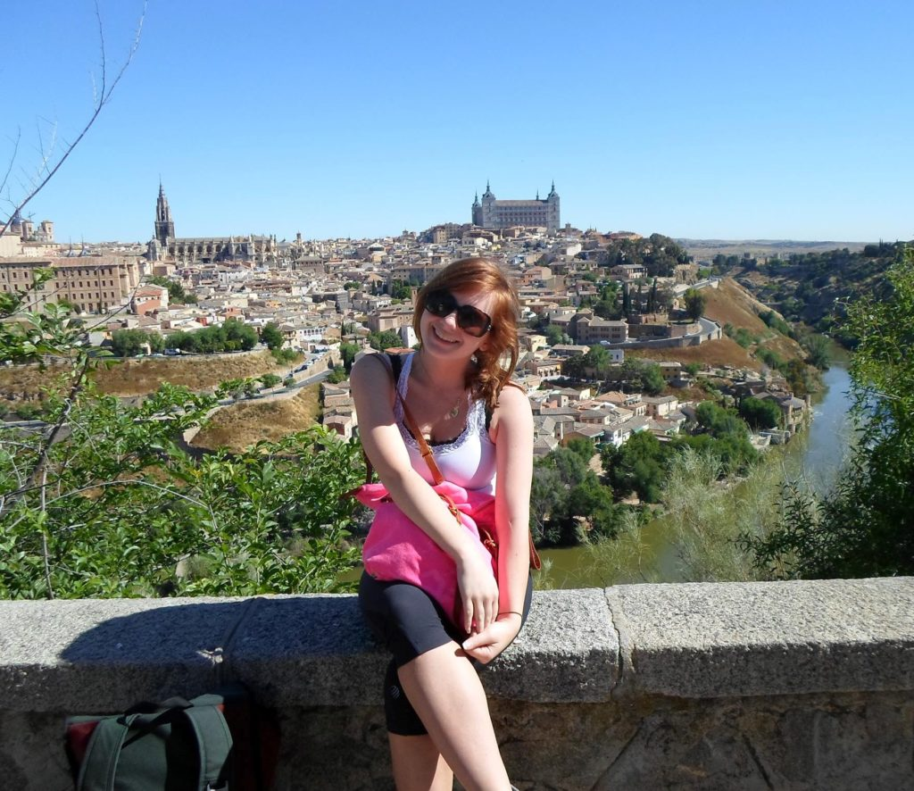 A young American girl in Toledo, Spain.